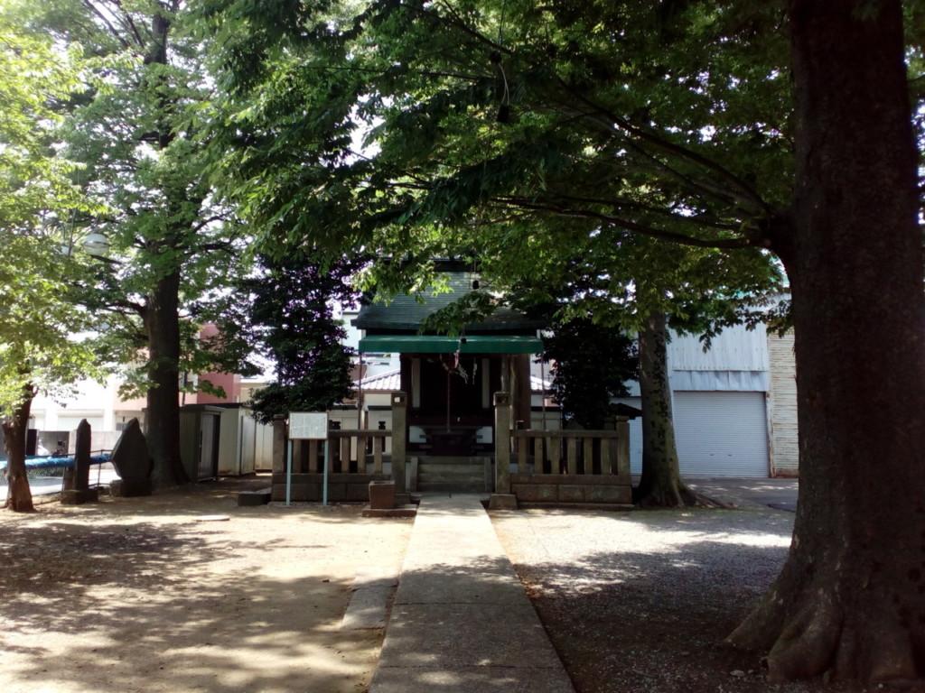 【上尾市公園巡り】1丁目の愛宕神社に散歩に行ったよ。木陰がたくさんあるので暑い日に小さい子が散歩するのに最適だよ♪