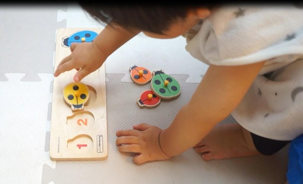 【動画あり】1歳6ヵ月の息子にボーネルンドの型はめパズル(ピックアップパズル)をさせてみた。