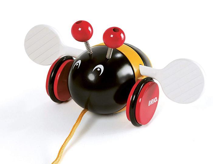 【動画あり】1歳児が大喜び!引っ張ると音が出る、BRIOのプルトイ「バンブル ビー」がお勧めだよ。